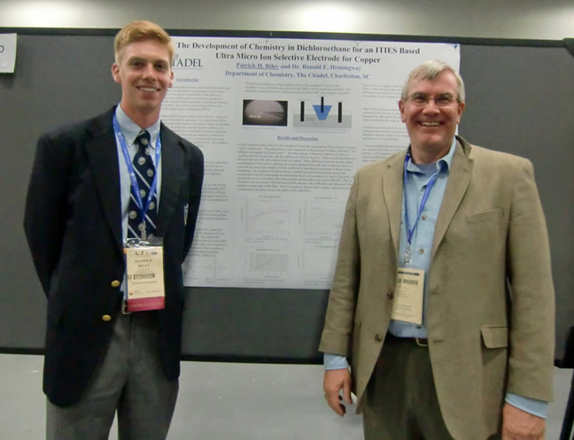 Patrick Riley and Dr. Ronald Hemingway at the National ACS Meeting in San Diego