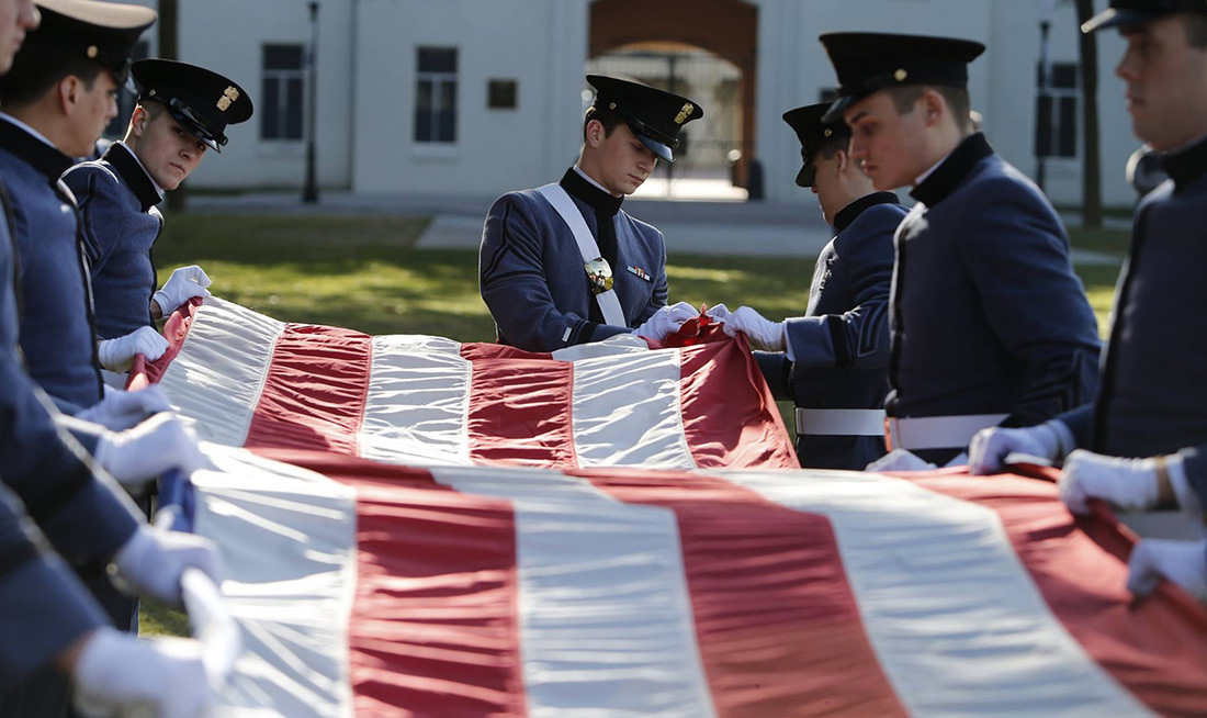 Cadets and United States Flag
