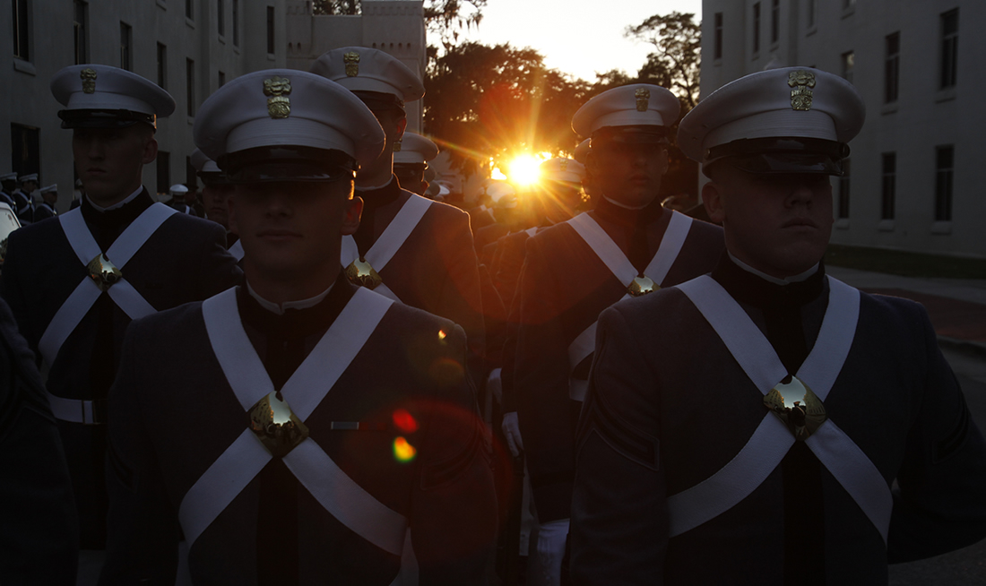 Cadets at Twilight Parade
