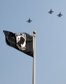 POW/MIA Flag, Missing man flyby