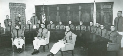 One of the earliest Citadel Honor Committees (The Sphinx, 1961).