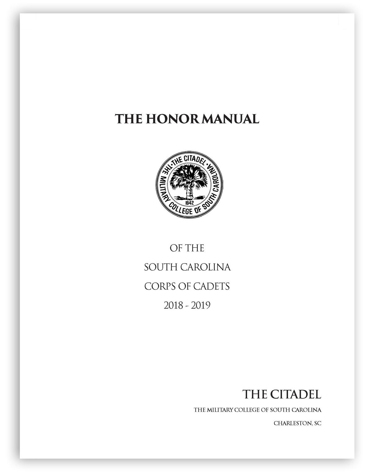 honor manual cover