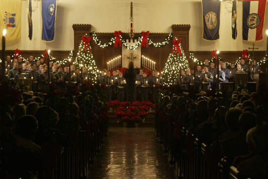 Christmas Candlelight Service, The Citadel, Charleston SC
