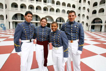 Cadets on the Quad