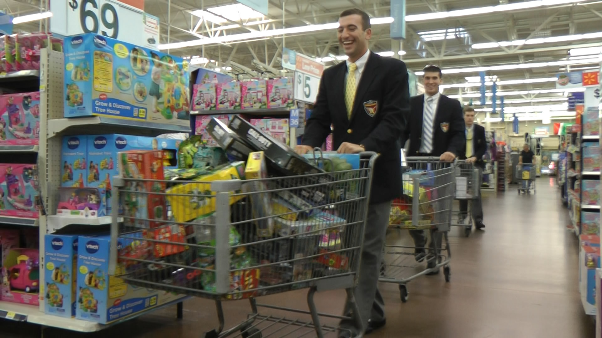 Cadets shopping for MUSC kids Christmas gifts