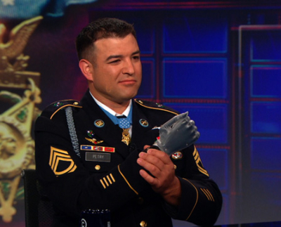 October speaker and Leadership Day participant; Medal of Honor recipient Sgt. 1st Class Leroy Petry