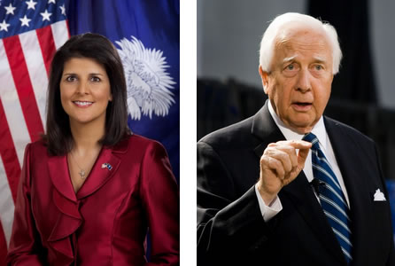 Governor Nikki Haley and Author David McCullough at The Citadel