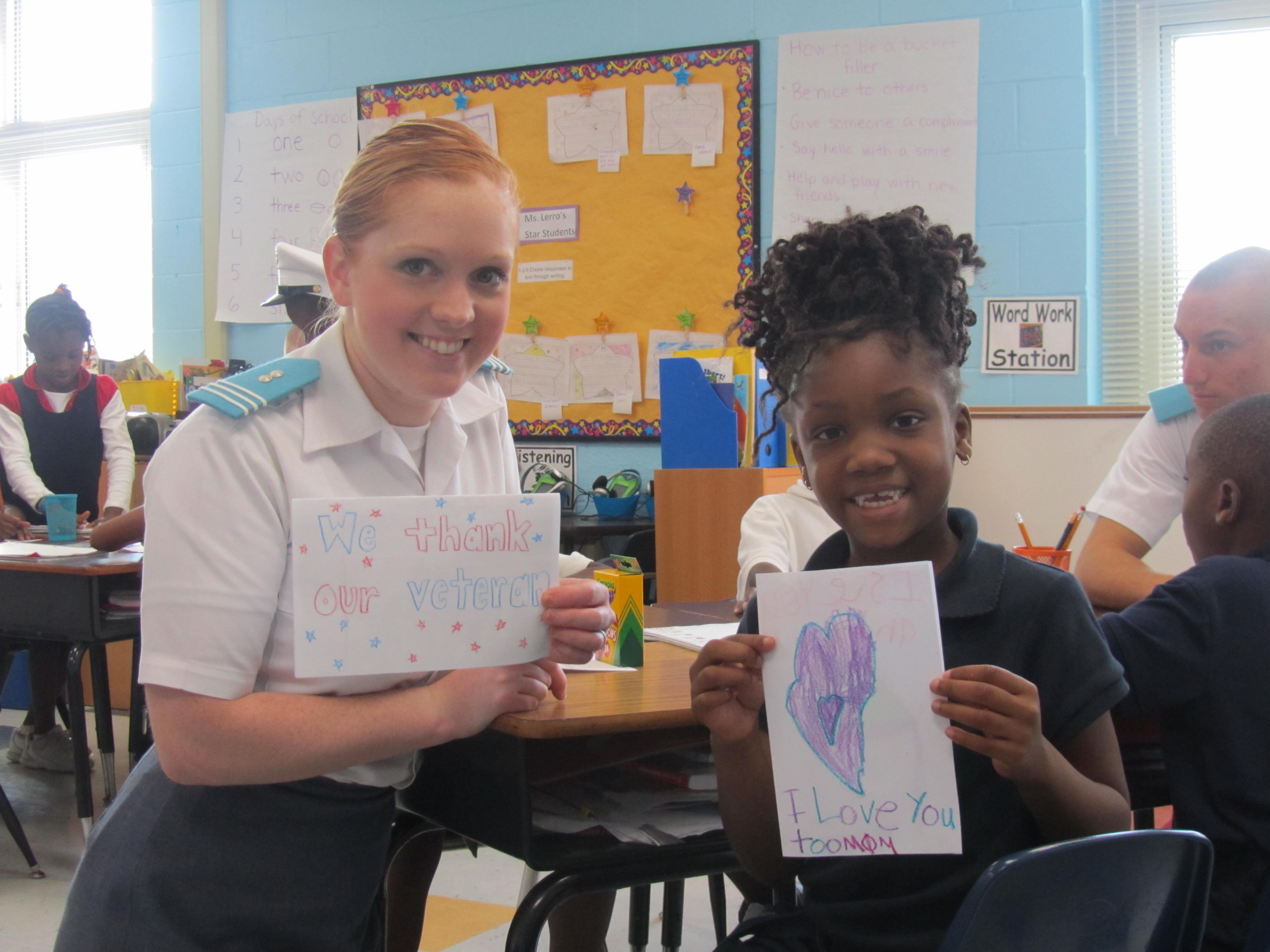 Citadel cadets visit schools on Leadership Day