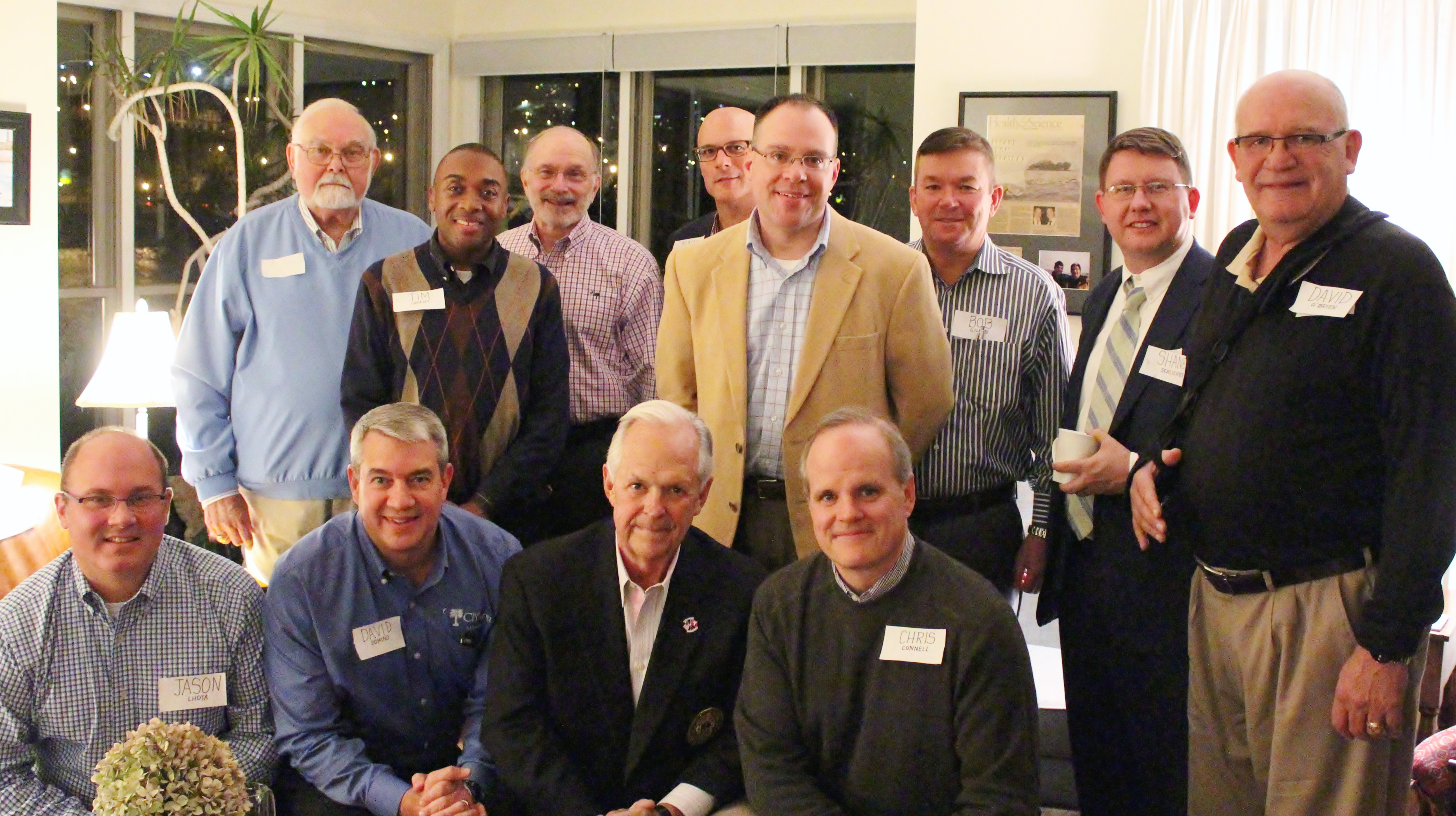 Dr. David Preston with members of Citadel Alumni Association's Pittsburgh chapter