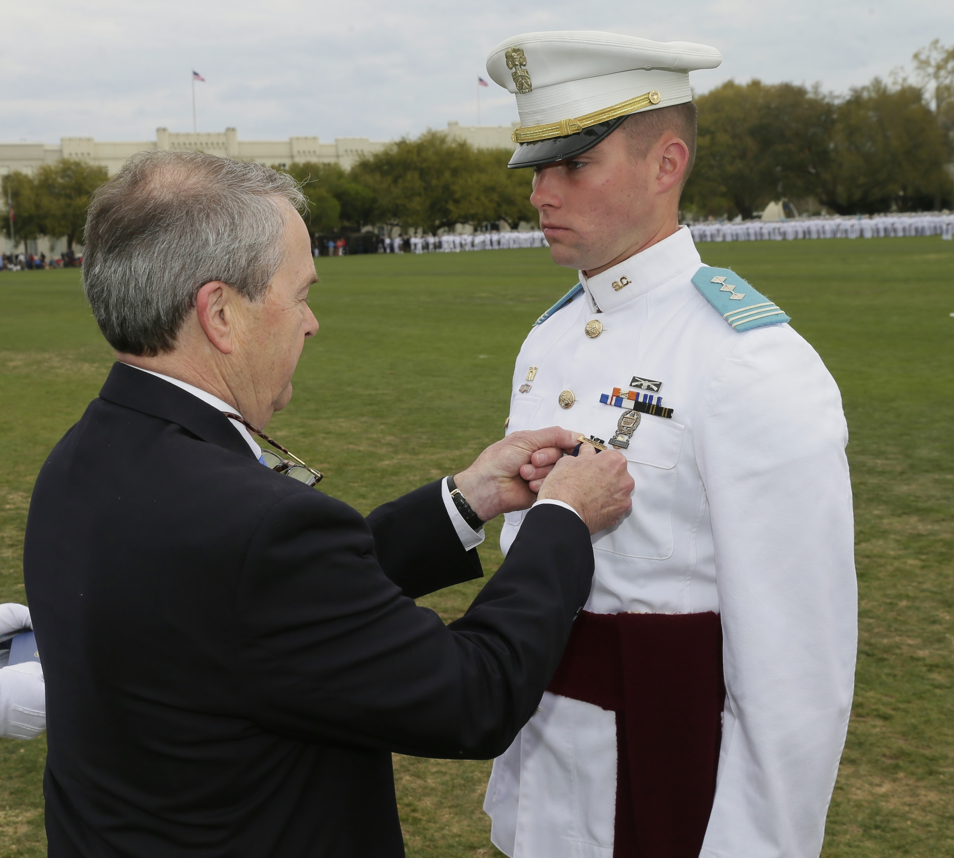 Citadel Regimental Commander MacDonald receives Palmetto Awared