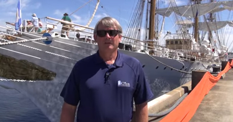 Jeff Davis and cadets tour the Argentine Naval Academy tall ship