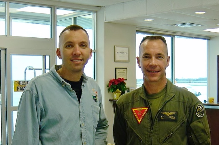 Col. Bresnik and Col. Tom Clark III, in 2007