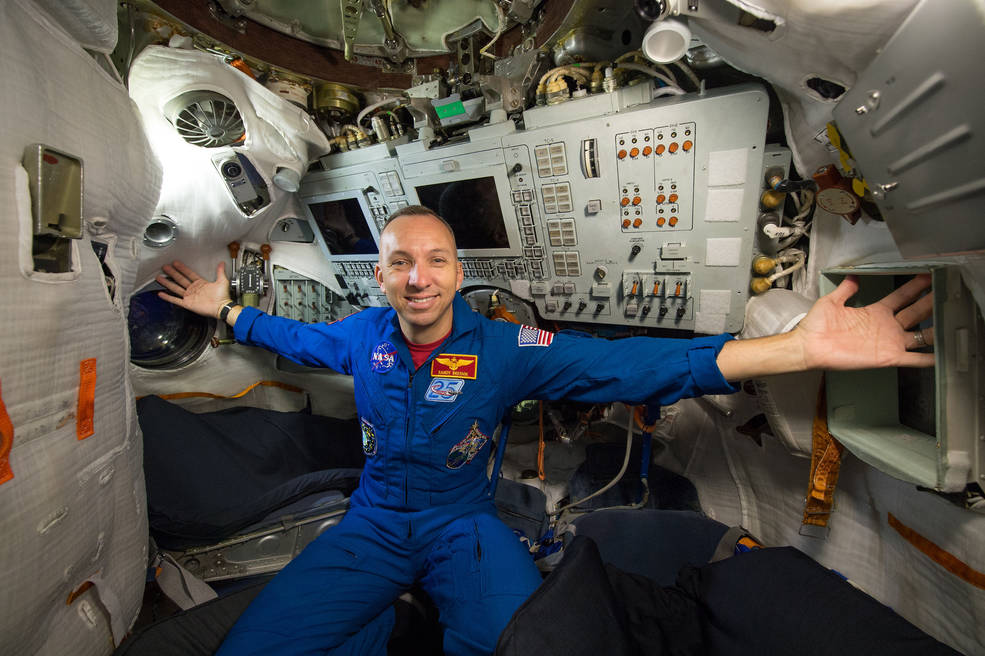 citadel alumnus astronaut randy bresnik on the international space station
