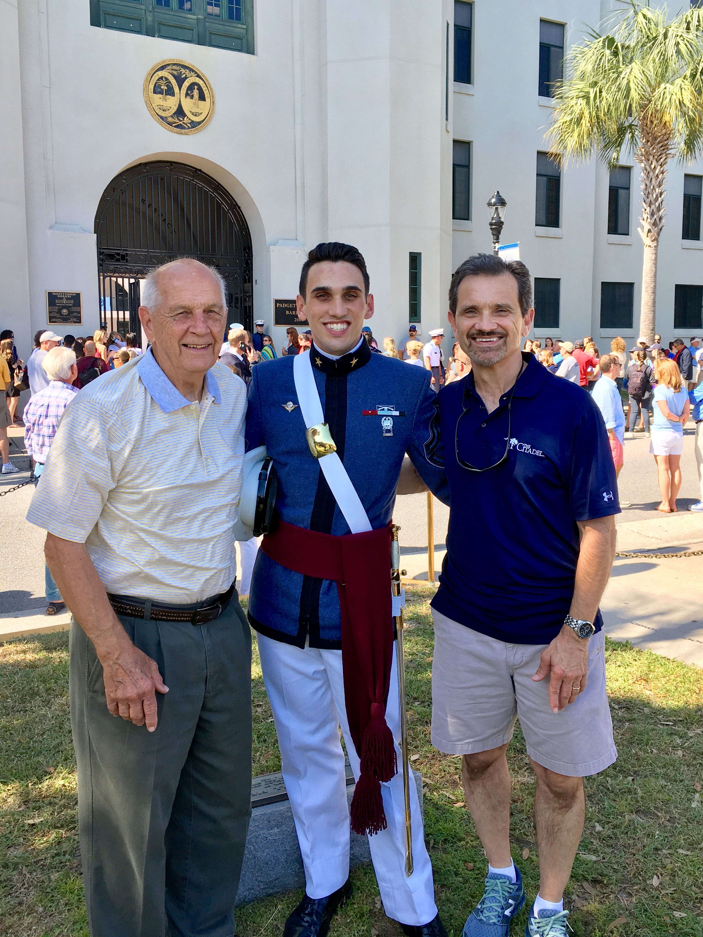 cadet grant miller with his father and grandfather