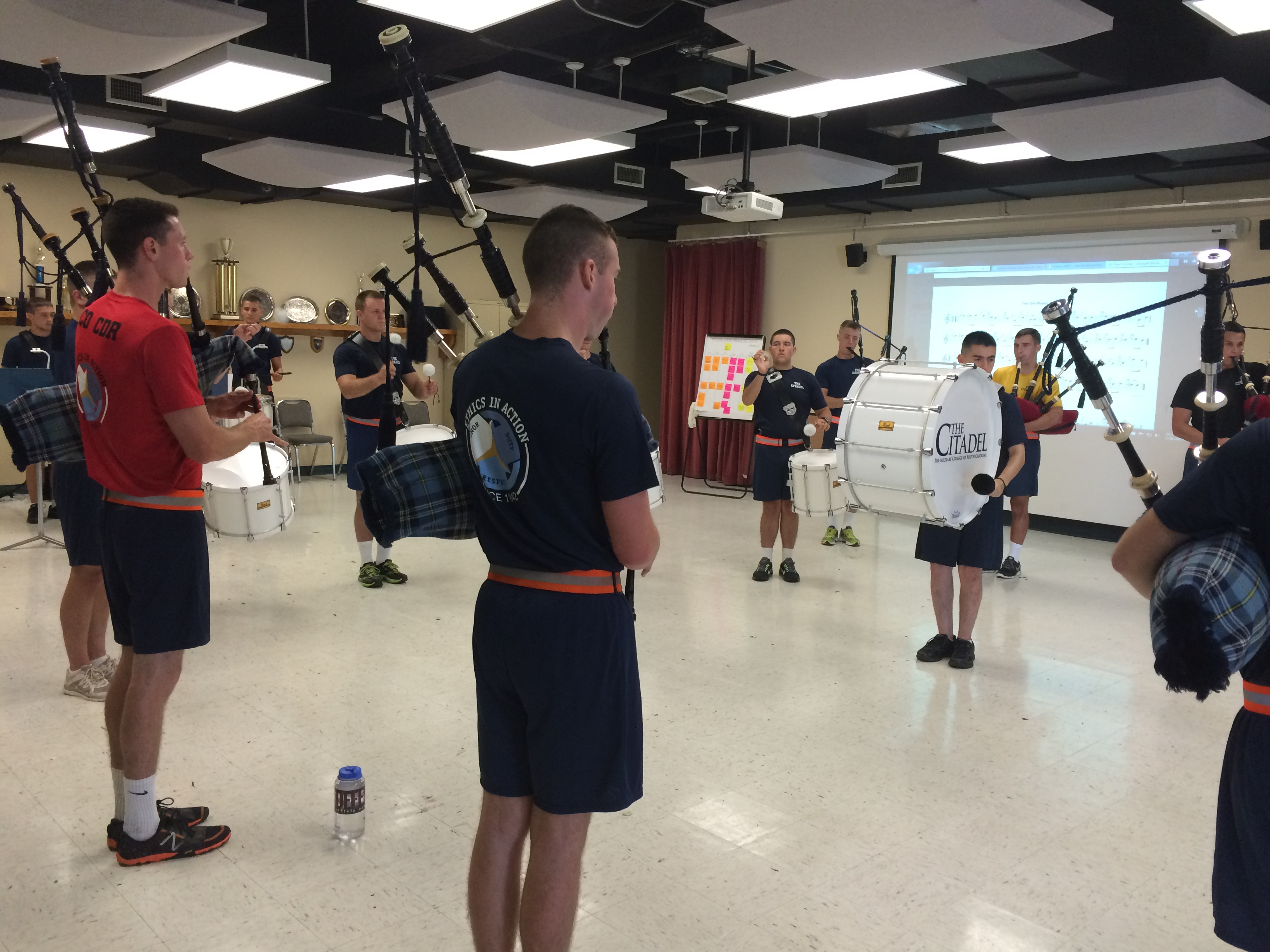 The-Citadel-Pipes-Practicing-Pipes-Band-2015