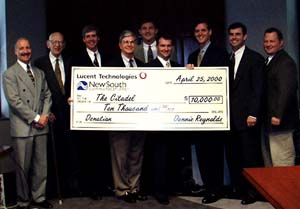 Citadel receives $10,000 from Lucent Technologies with help from NewSouth Communications