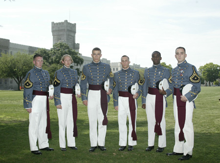 Top six cadets.