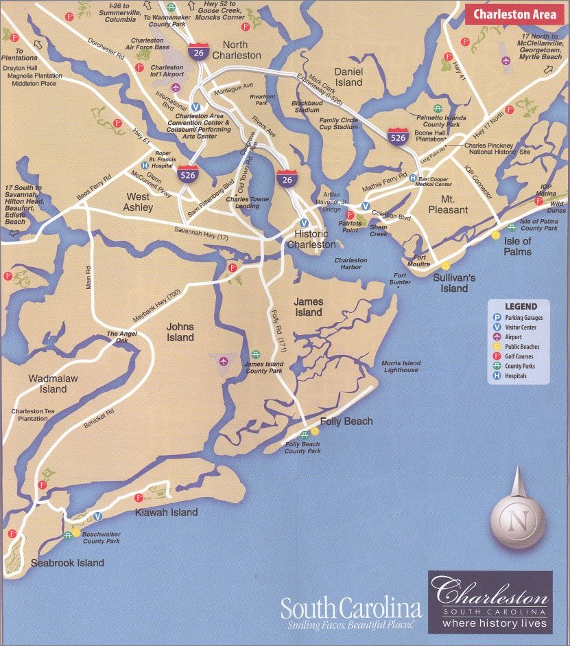 Charleston area map