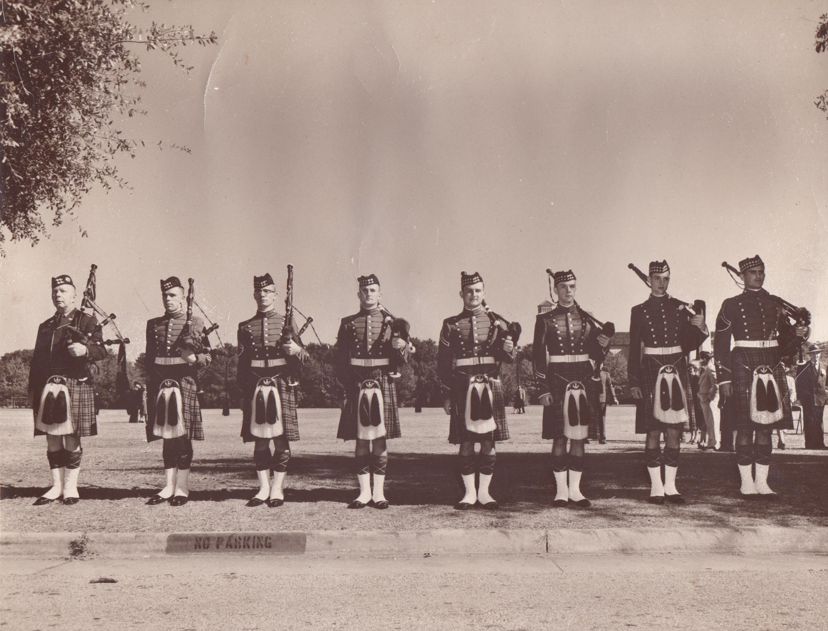 Original pipes band, 1955, The Citadel