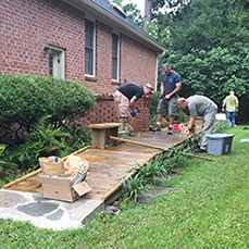Commandant's Office builds a walkway for civic engagement project