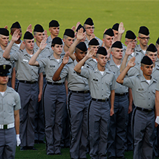 Cadets at Oath Ceremony