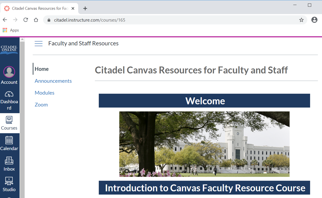 Faculty Resource Course Home Page