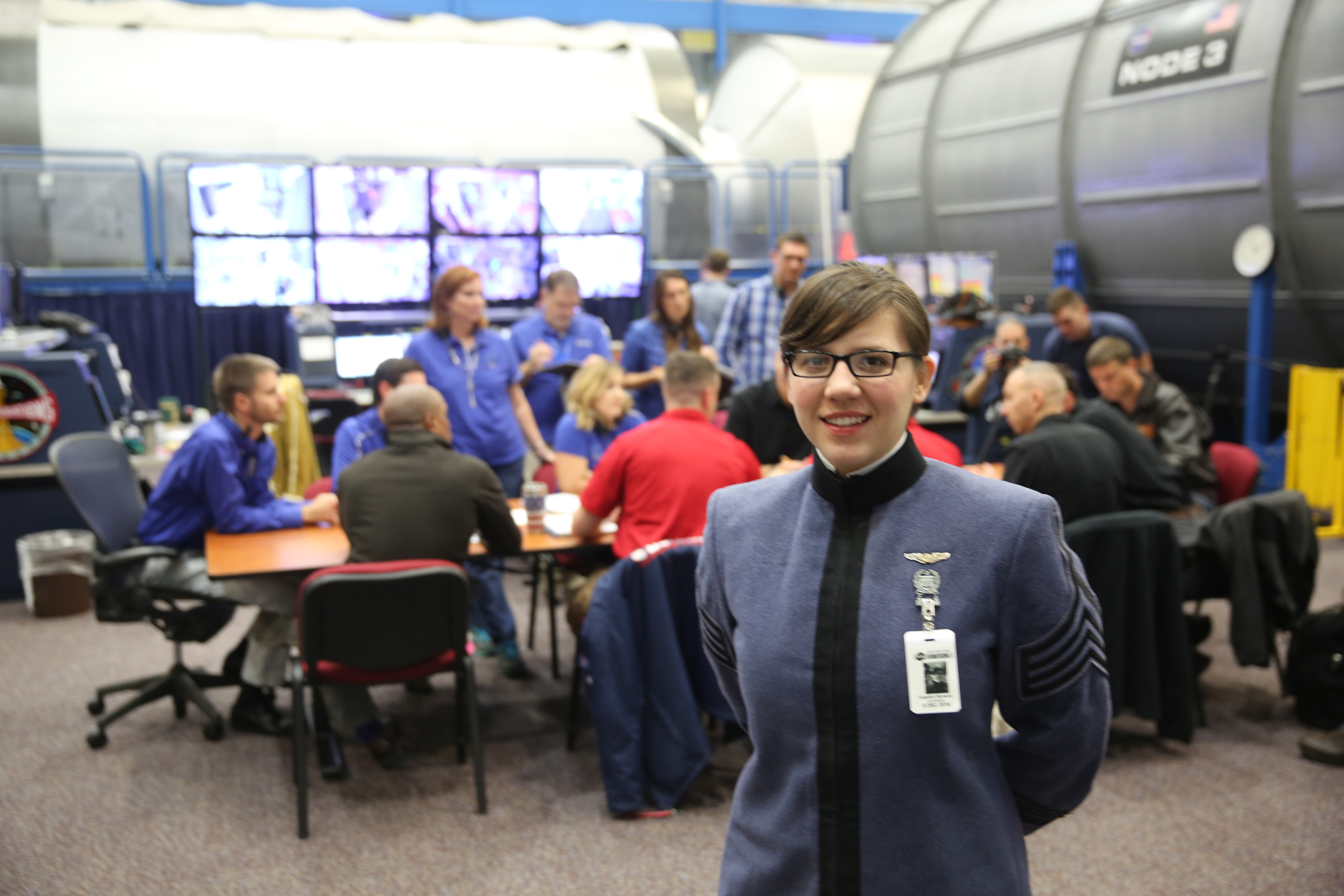Cadet Angelica McNerny with Citadel Space Star