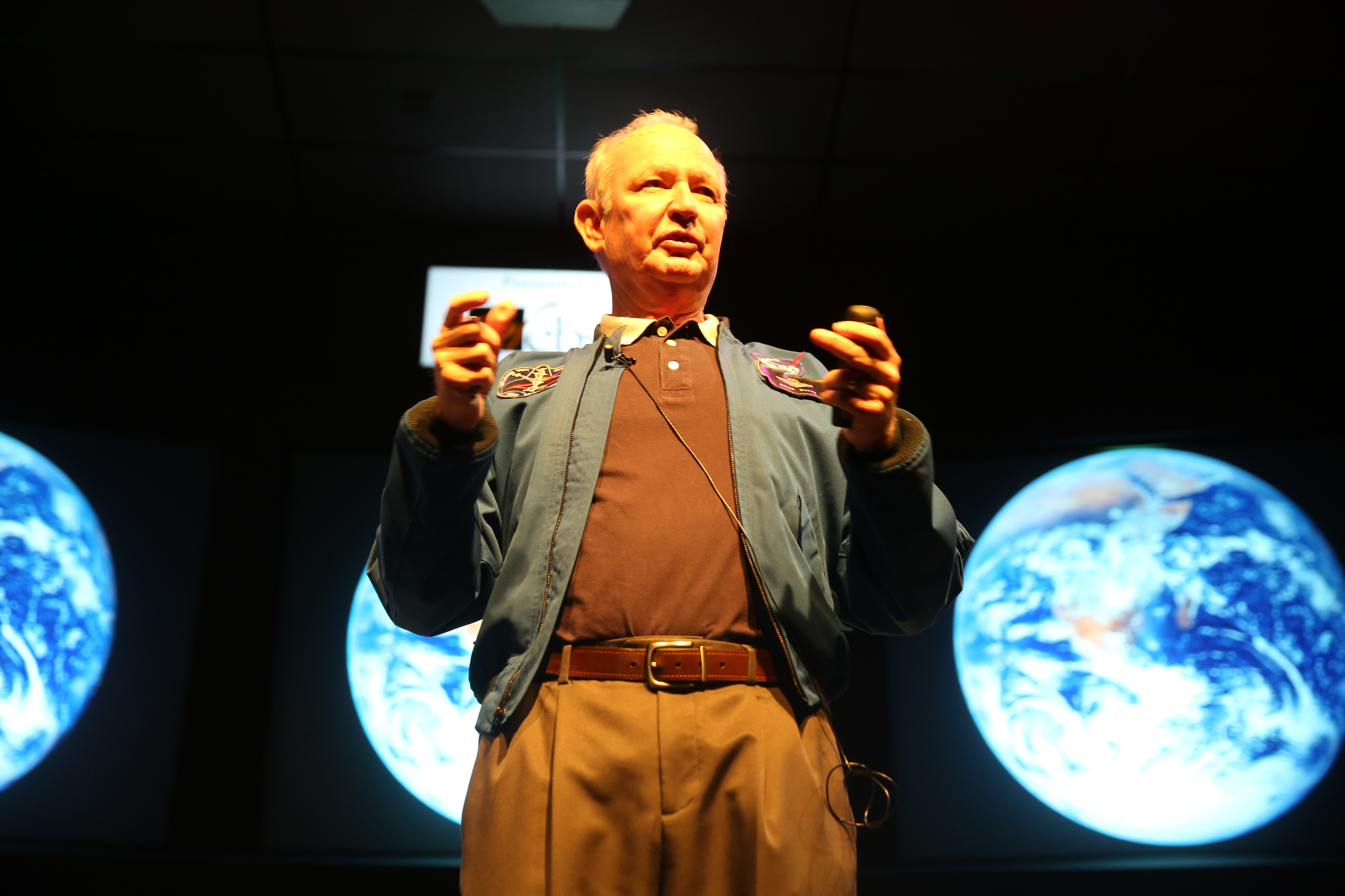 Astronaut Brian Duffy at Space Center Houston