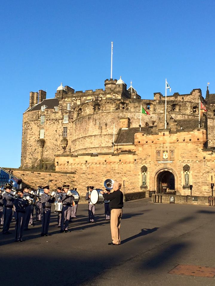 Band Rehearsal Edinburgh Castle 2015
