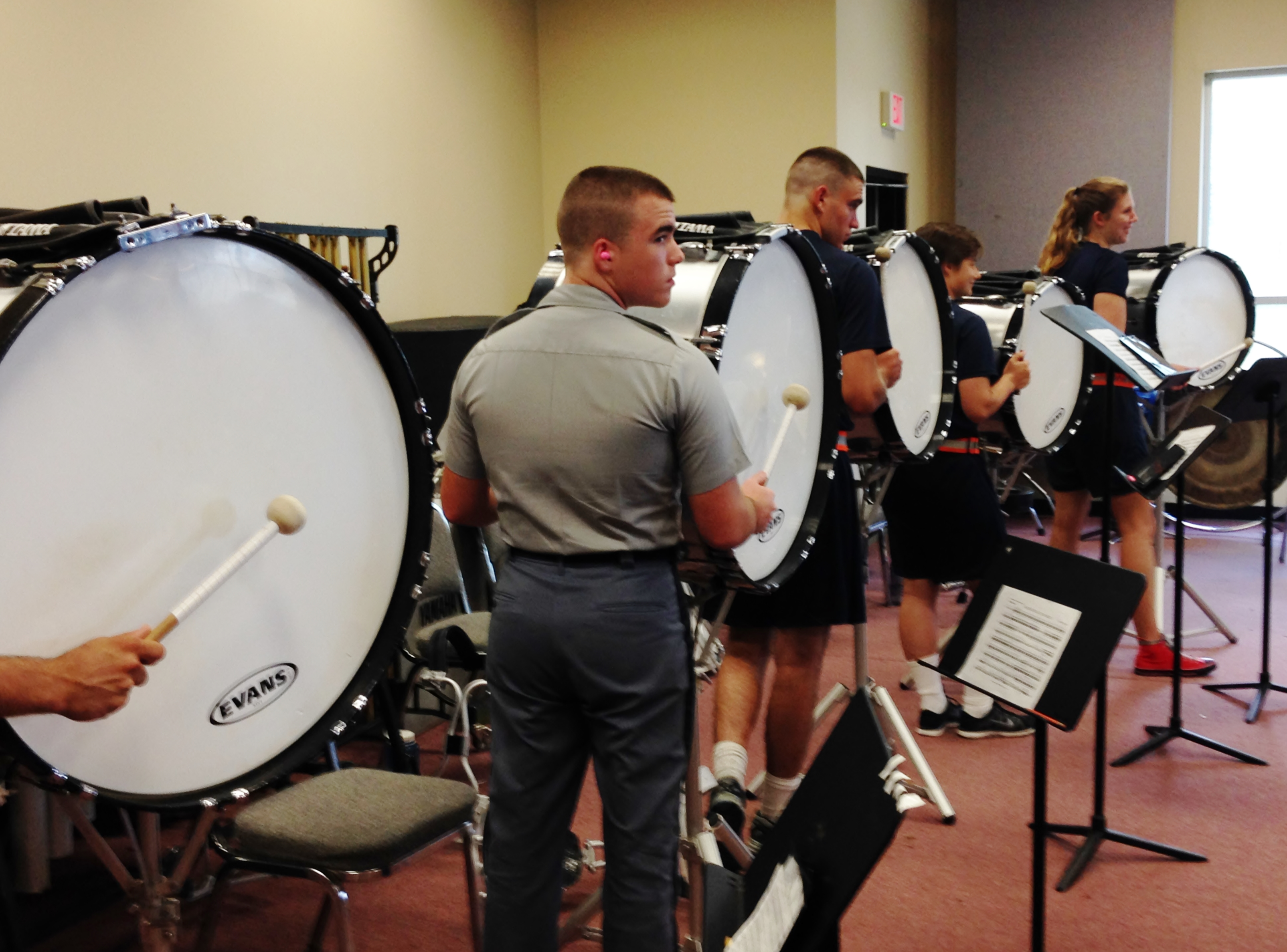 The-Citadel-Bass-Drums-Practicing-Pipes-Band-2015