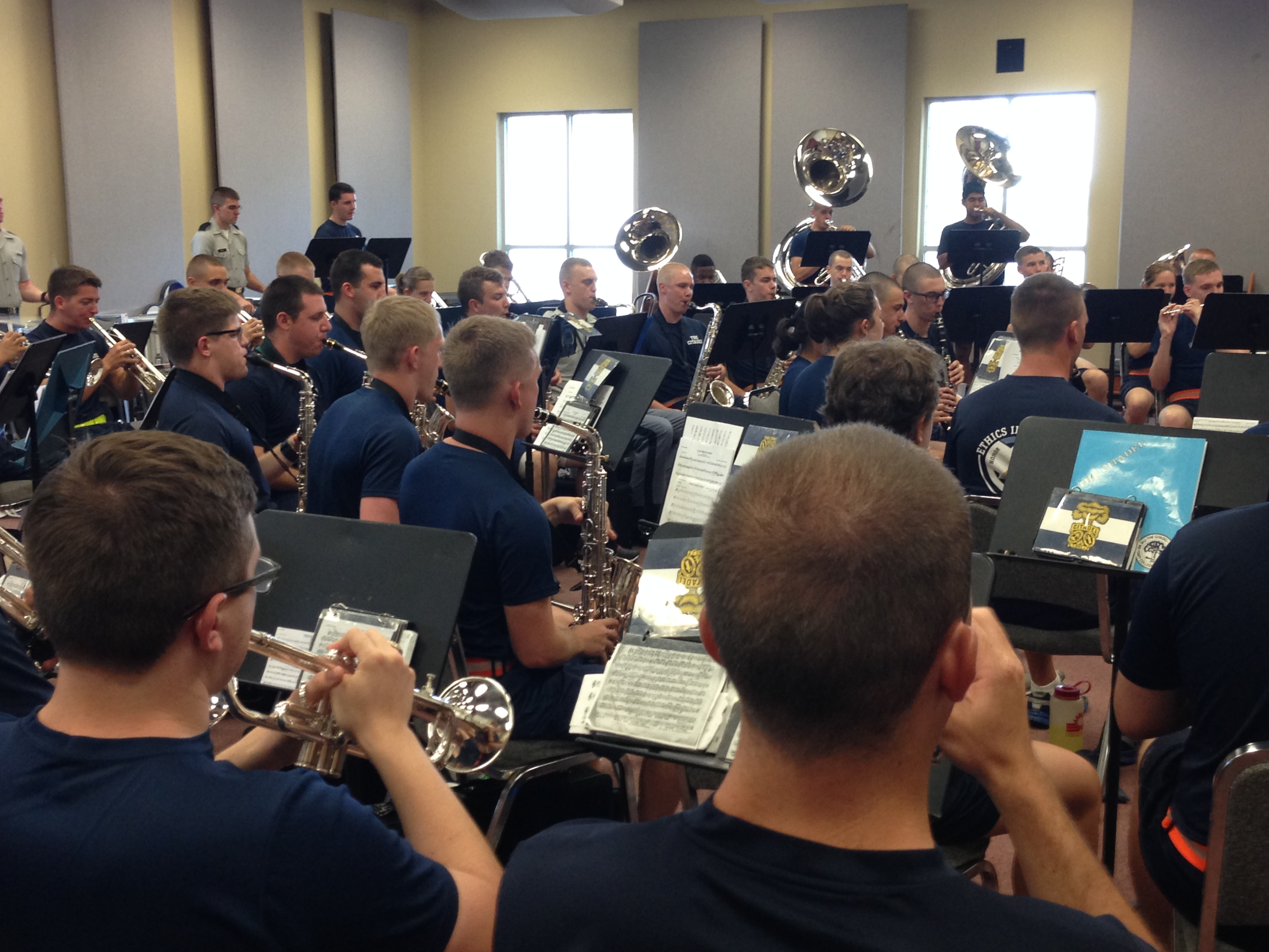 The-Citadel-Horns-Practicing-Pipes-Band-2015