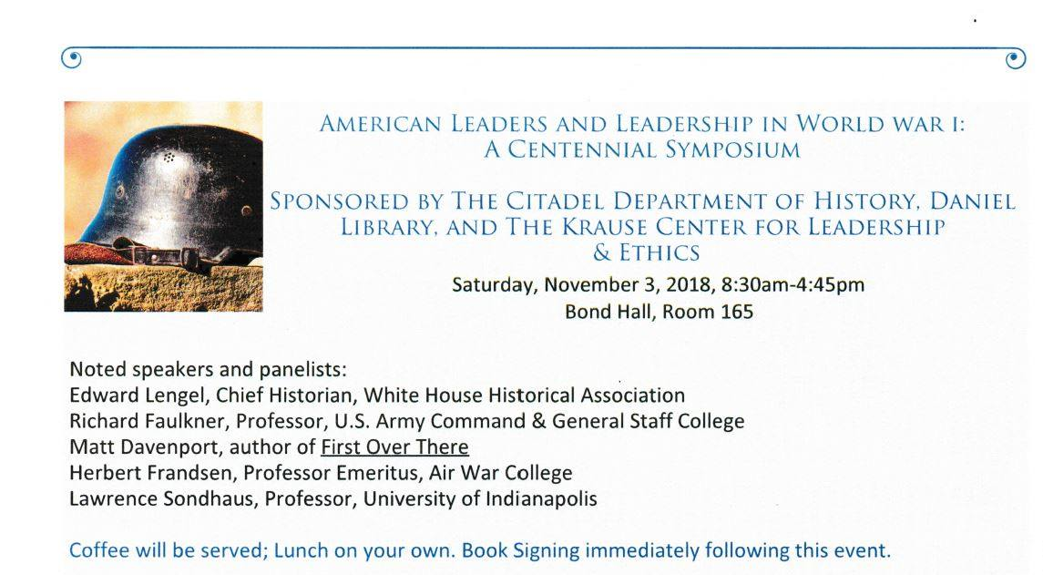 The Citadel Symposium on American Leaders And Leadership in WWI
